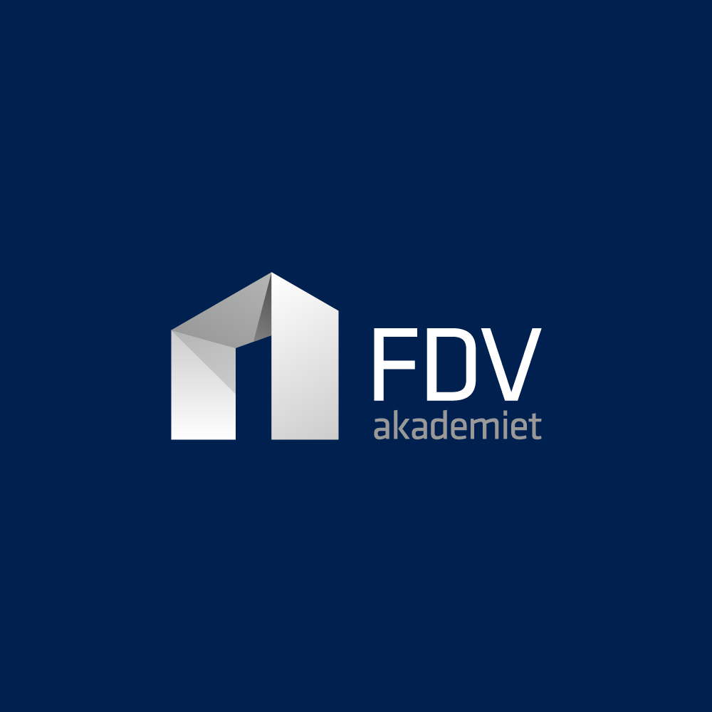FDVakademiet  (new modern sophisticated logo for property management business)