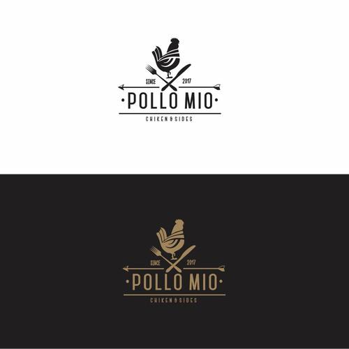 Pollo Mio Logo design