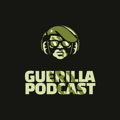Guerrilla Logo for Marketing Podcast