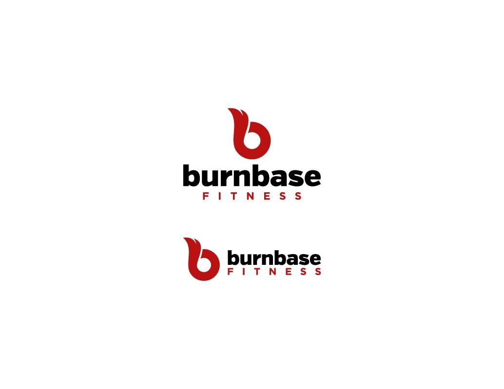 burnbase fitness logo design