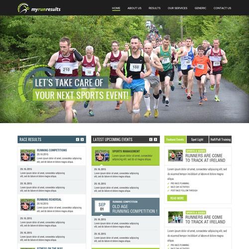 Web Site Design For Run Results