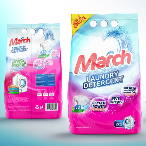 Design packaging for laundry Detergent Powder