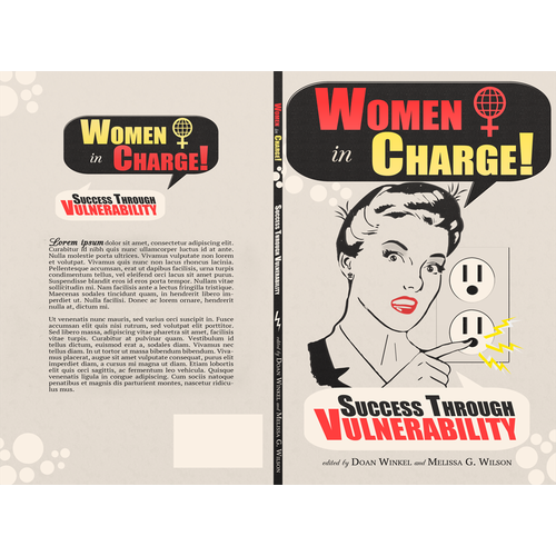 Create a book cover for Women in Charge series of slim books