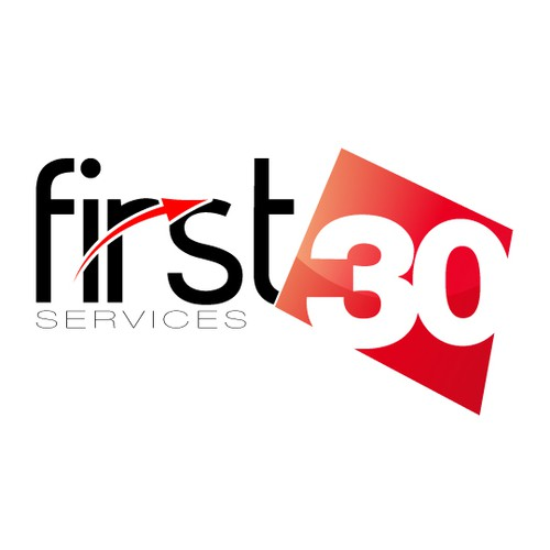 Logo and Business Card for First 30 Services