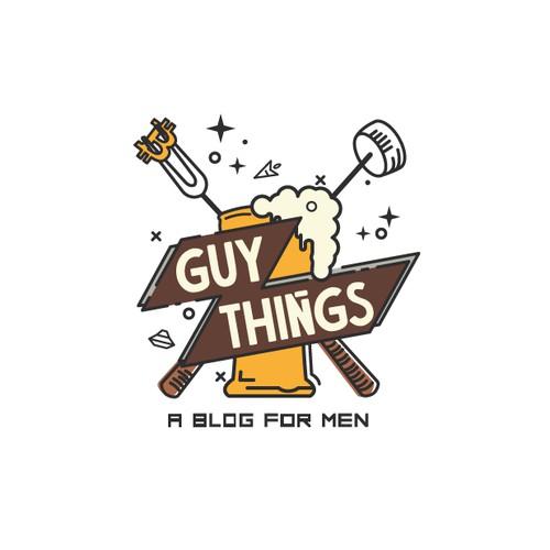 logo concept for a blog for men