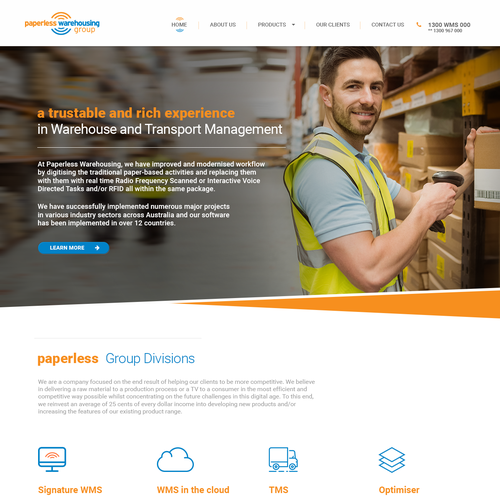 Web page design for Paperless