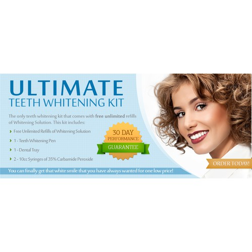 Create a Captivating Teeth Whitening Banner / Image
