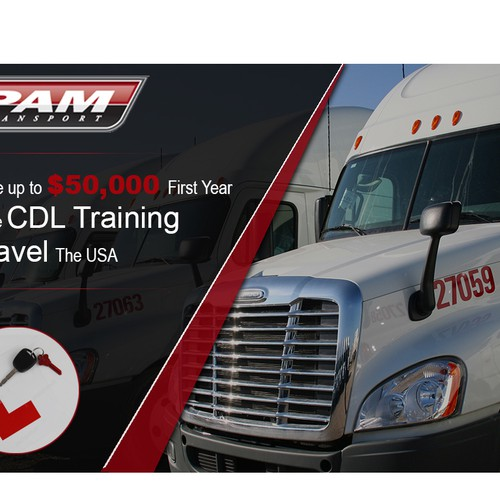 Create a Facebook Ad for a Truck Driver Training Company