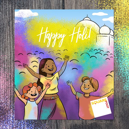Holi Celebration Card
