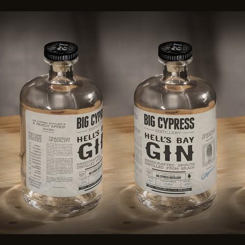 Label Magic City Gin from Big Cypress Distillery