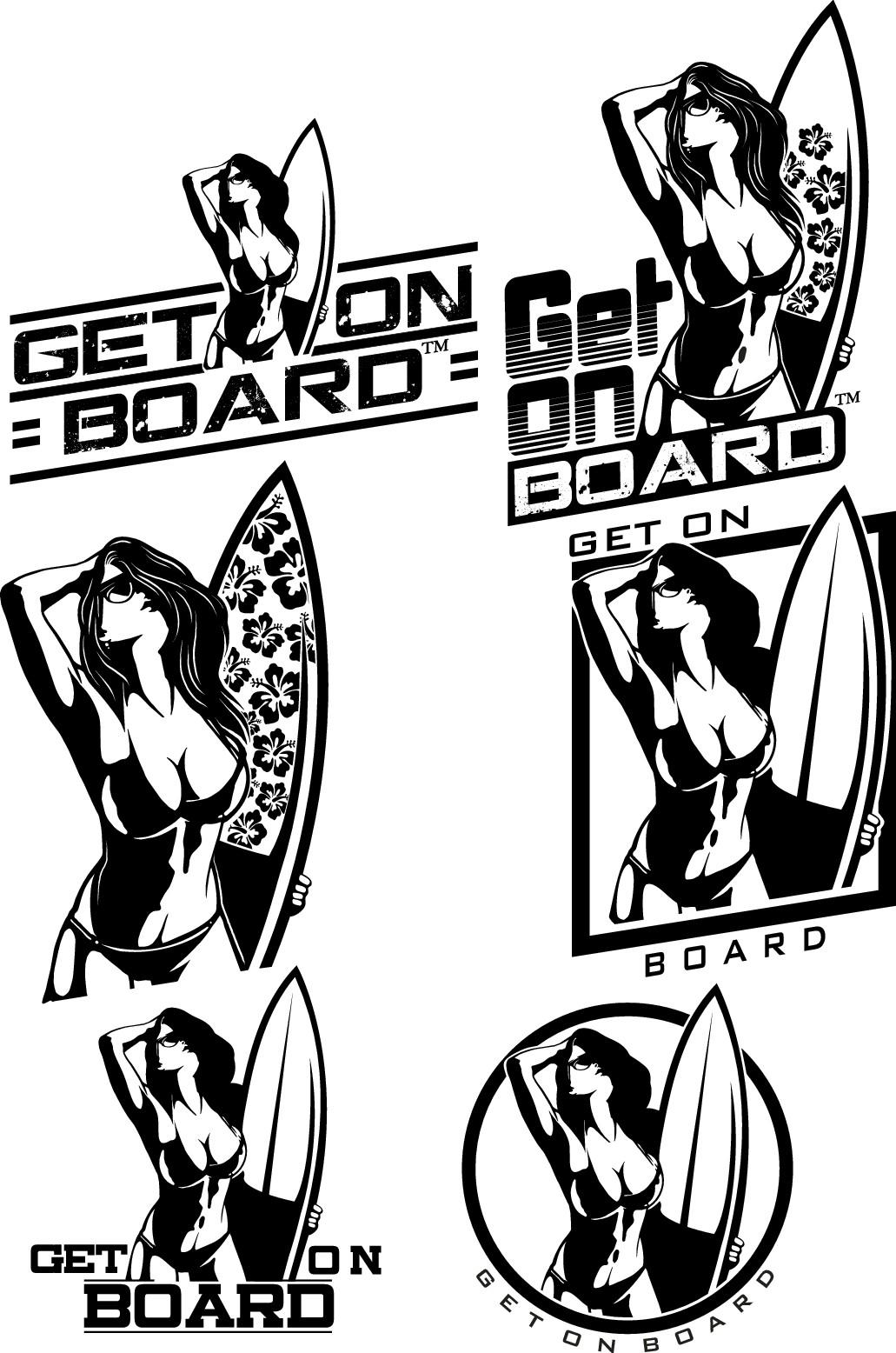 """""""Get on board"""" (TM)- Surfing, skateboarding, paddle boarding merchandise!!"""