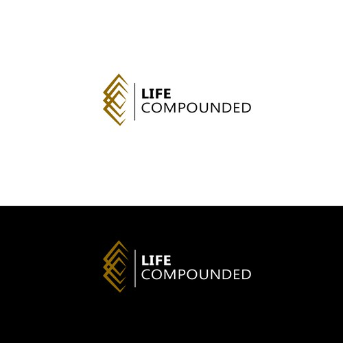 A strong logo for an exciting company educating people how they can COMPOUND their LIFE!