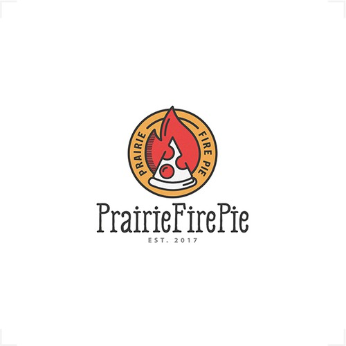 Logo For Wood Fired Pizza Restaurant