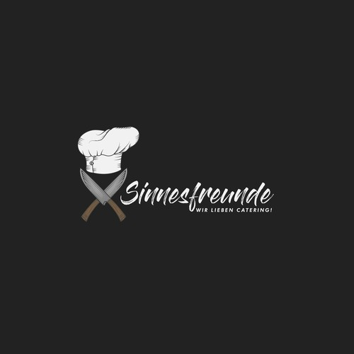 Logo redesign for SINNESFREUNDE. A catering company!