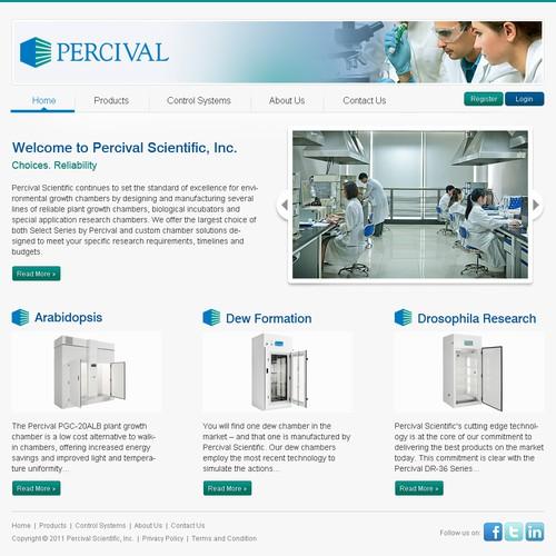 website design for Percival Scientific, Inc.
