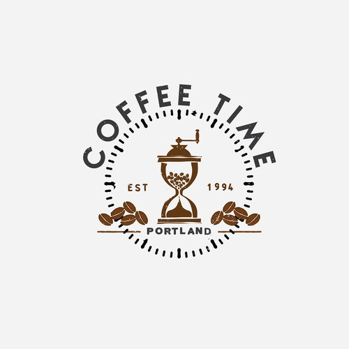 Create a logo for a vintage coffee shop in a trendy Portland Neighborhood.