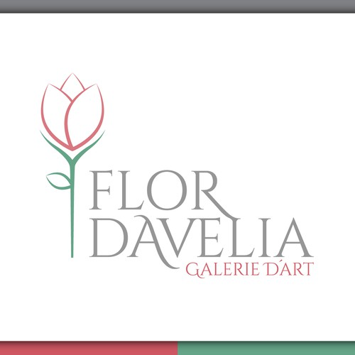 Elegant flower based logo