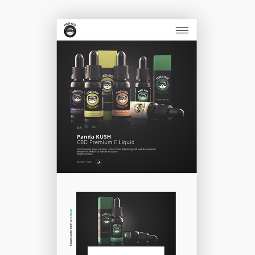 Responsive web design for Panda Kush