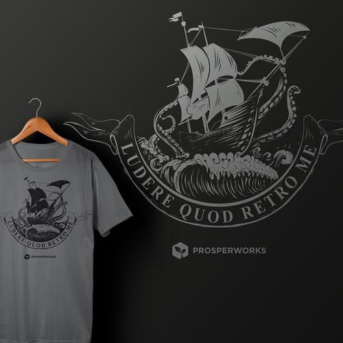 single color T-shirt vector illustration