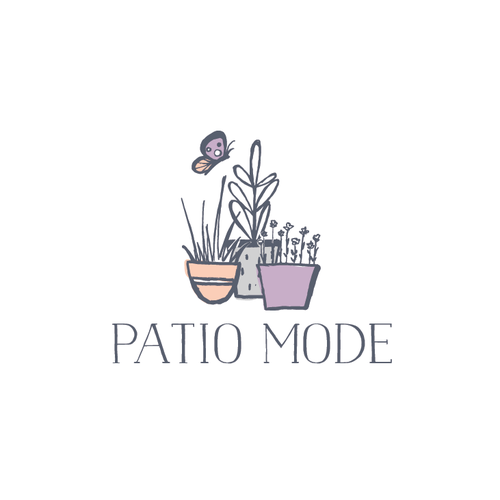 Handdrawn logo for a gardening store
