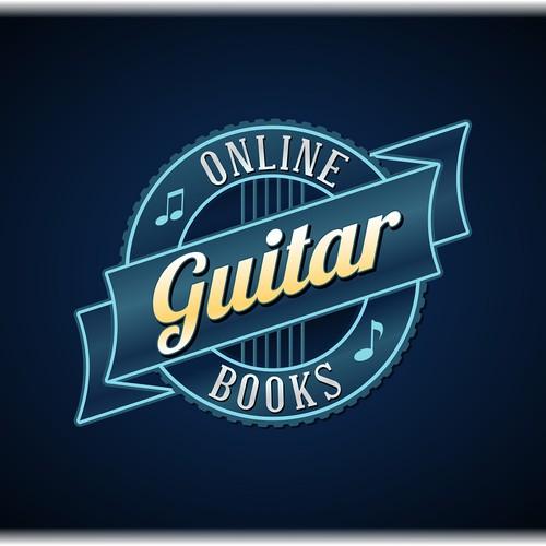 Online Guitar Books logo design