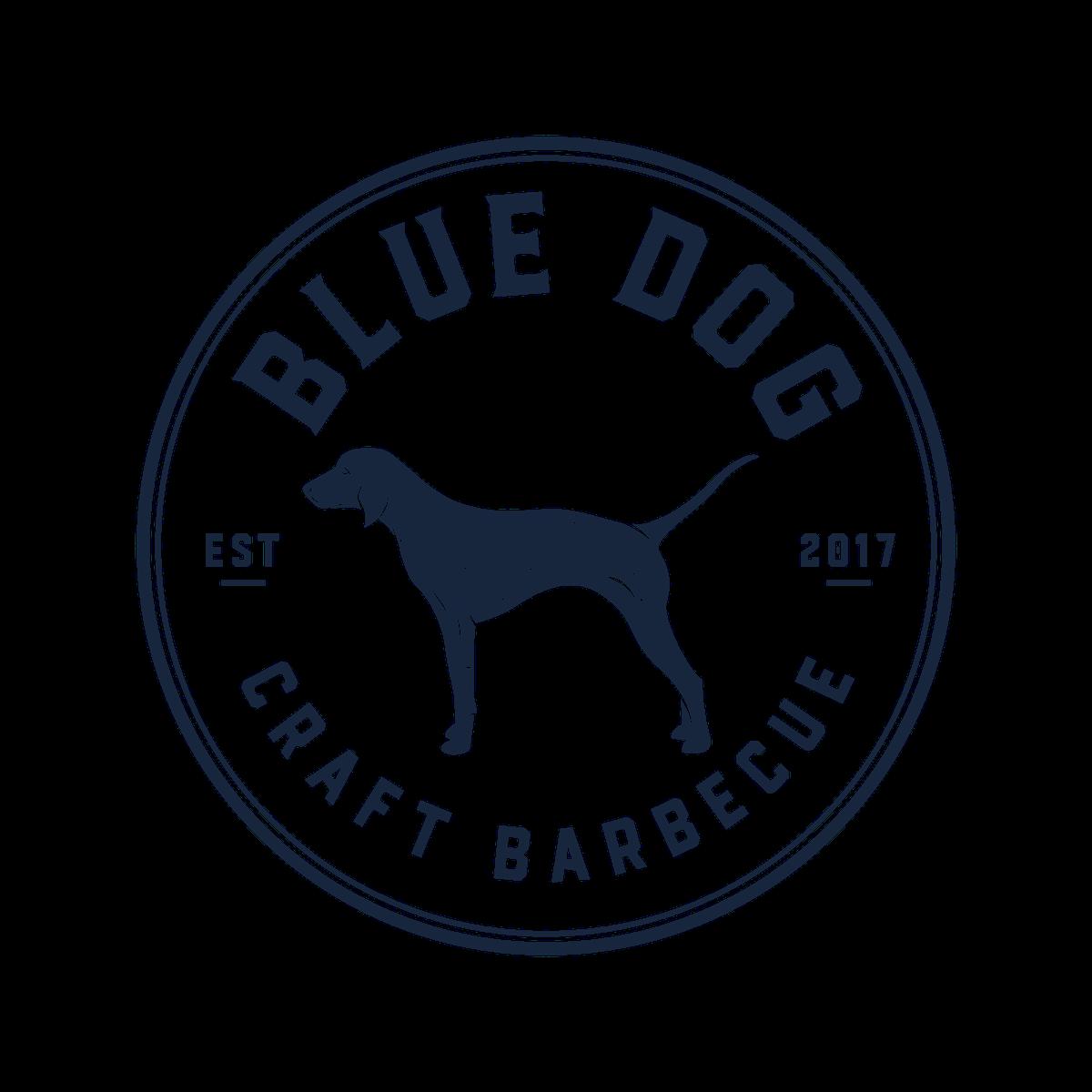 Logo design for Blue Dog Craft Barbecue