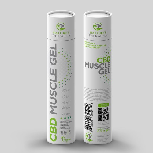 Packaging CBD Muscle gel