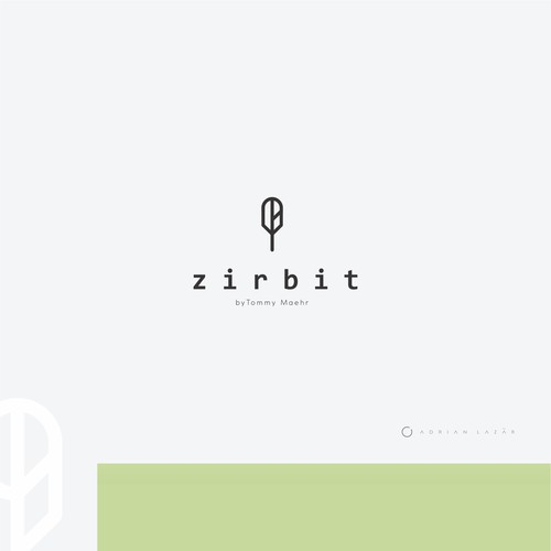 Logo for ZIRBIT - connect with nature - health & fitness &lifestyle