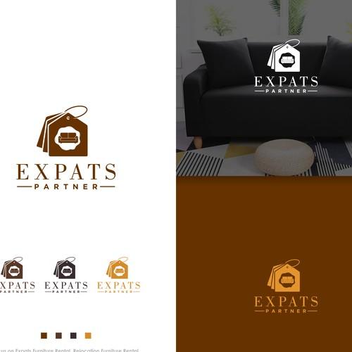 expats partner logo & bran identity designs