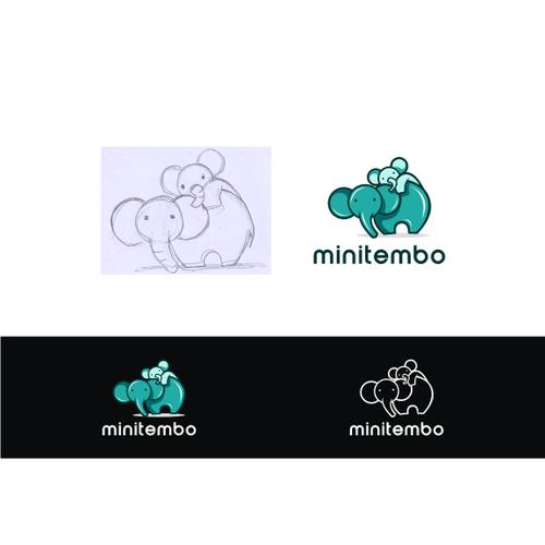 minitembo childcare logo concept