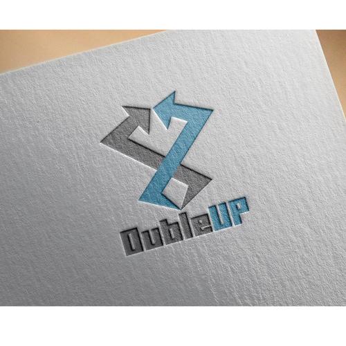 Bold logo concept for dubleup