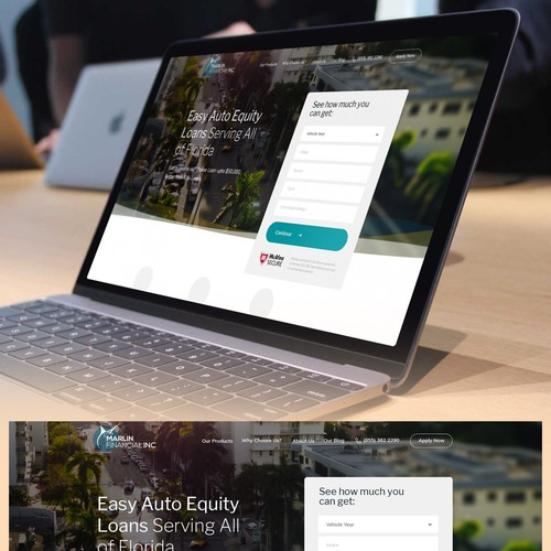 Marlin Financial Website Redesign