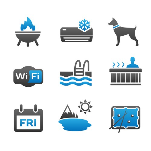 Vacation Rental Guide Icon Set