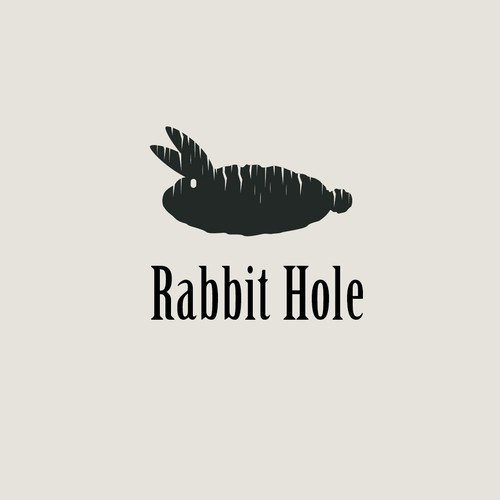 Rabbit hole logo concept.