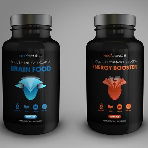 Neogenics Nutrition Label Design