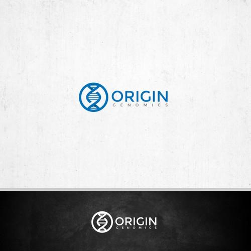 O letter logo design concept for a cannabis medical company