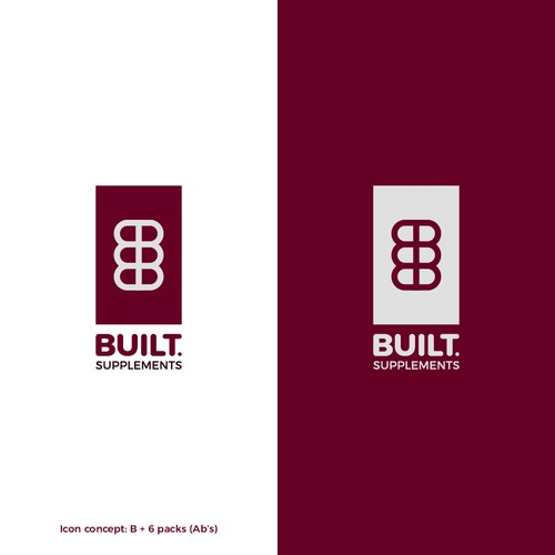 Body building supplement logo