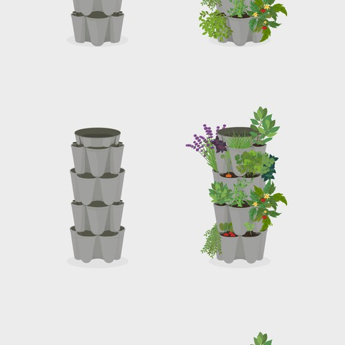 Illustration of a GreenStalk Vertical Planter!