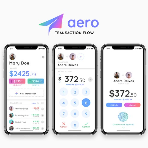 Aero App Concept - Transaction Flow