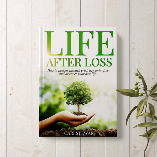 Book cover design depicting life, hope and healing for hurting people