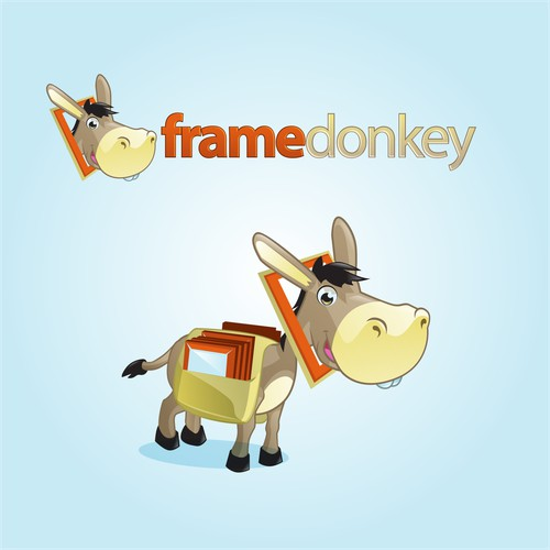 Frame Donkey Logo and Character Design
