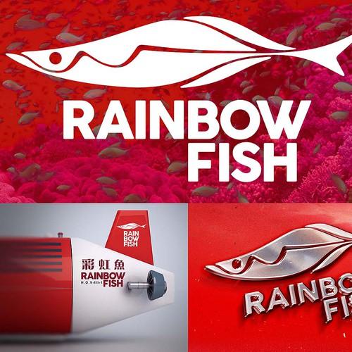 Rainbow fish logo
