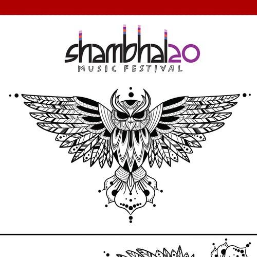 Mandala inspired Owl