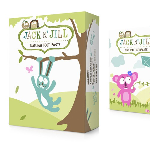 Cute, natural gift box packaging