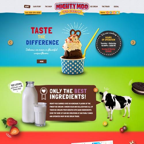 Popular Ice Cream shop needs new Website