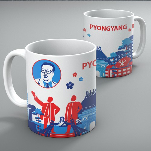 Mug design of Pyongyang