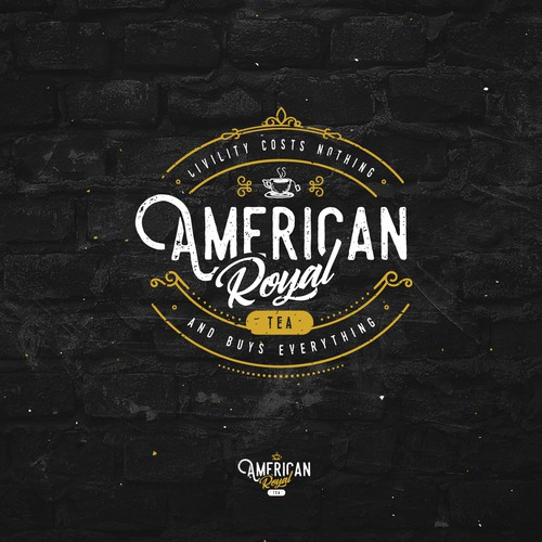 Vintage Logo Design for American Royal Tea