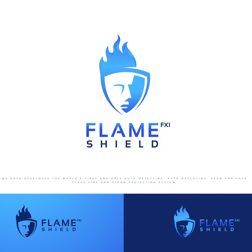face flash fire and steam protection system