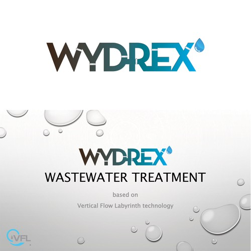 Logo concept for wastewater treatment company.