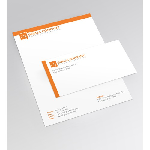Simple Letterhead and Envelope for a Law form